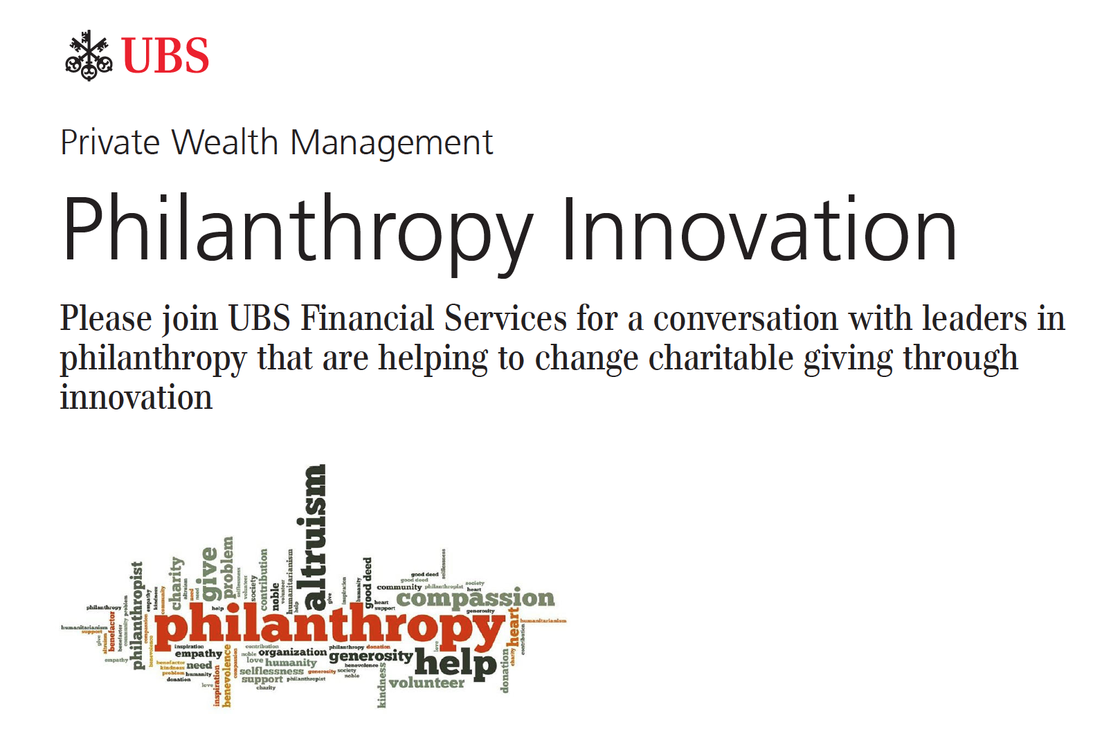 UBS Invites one2one USA to Present at their Philanthropy Innovation Roundtable